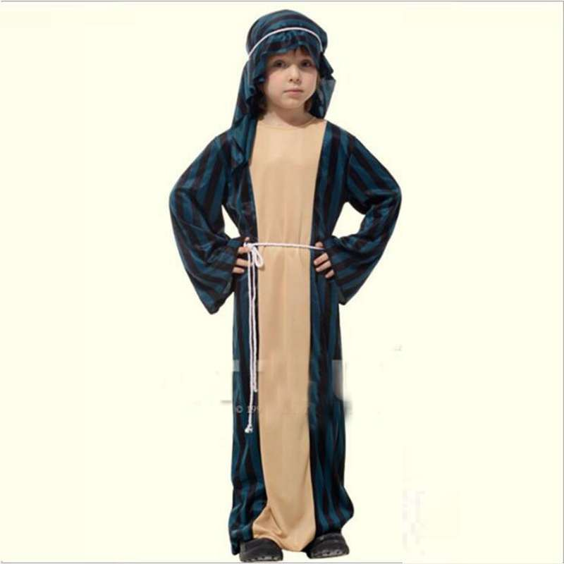 Halloween Stage Performance Children's Costumes The Small Arab Warrior Princes Dress Cosplay Costume