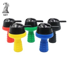 SY 1pc 7 Holes Silicone Shisha Hookah Bowl and Metal Kaloud Charcoal Holder Head With Handle Accessories