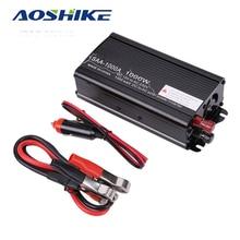 ФОТО aoshike 1000w car inverter 12v dc to 110v 220v ac auto power inversor voltage converter transformer usb car charger