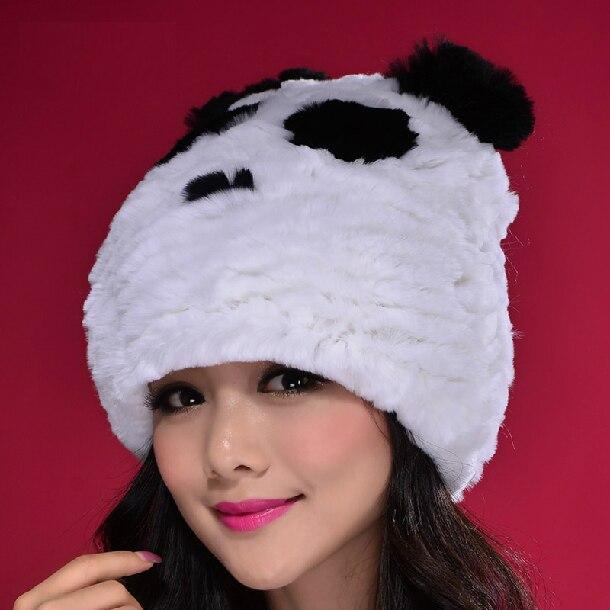2017 New Autumn And Winter Men And Women Cute Korean Adult Panda Ears Rabbit Hair Parent-child Fur Hats Children's Hats