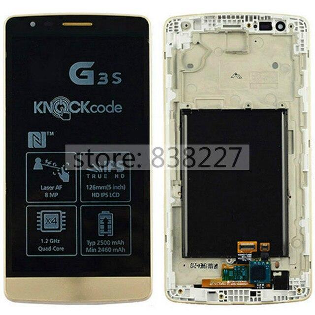 Tela de lcd para lg g3 mini d722 d724 display lcd de toque digitador da tela + quadro assembléia substituição preto frete grátis