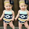 Bebê recém-nascido Menina Halter Borla Macacão Sunsuit Romper One-Pieces Roupas Outfits