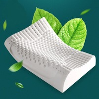 60 40 12 10cm Breathable Latex Cervical Vertebrae Health Care Orthopedic Massage Pillow Bed Bedding Natural