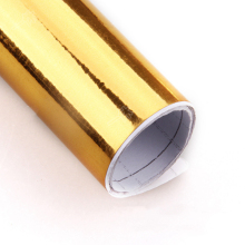 300mm x 1520mm Golden Gold Chrome Air Free Mirror Vinyl Wrap Film Sticker Sheet Decal 12
