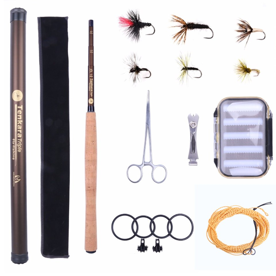 Maximumcatch Telescoping Fly Rod Tenkara Rod Combo 10'8/11'1/12'9 Fly Fishing Pole & Line & Flies & Forcep maximumcatch nexus 12 13 6ft tenkara telescoping fly rod 7 3 action fishing rod sock carbon tube with line keeper and fly line