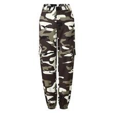 2019 New Yfashion Women Camouflage Loose Casual Trousers