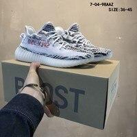 2019 новая Оригинальная спортивная обувь для мужчин Yeezys Air 350 Boost мужские кроссовки для улицы дышащая Спортивная обувь Yeezys 350 обувь