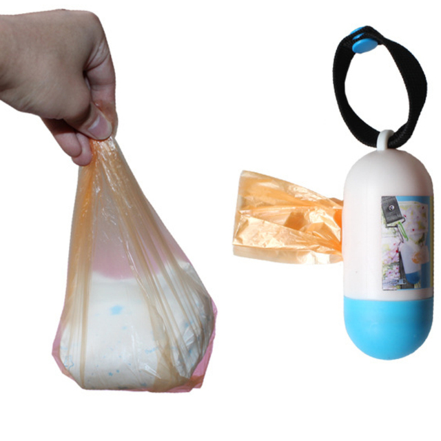 2017 new arrival 10 rolls/lot =200pcs garbage bags travel nappy bags baby diaper nappy disposable one-time use rubbish bag M728