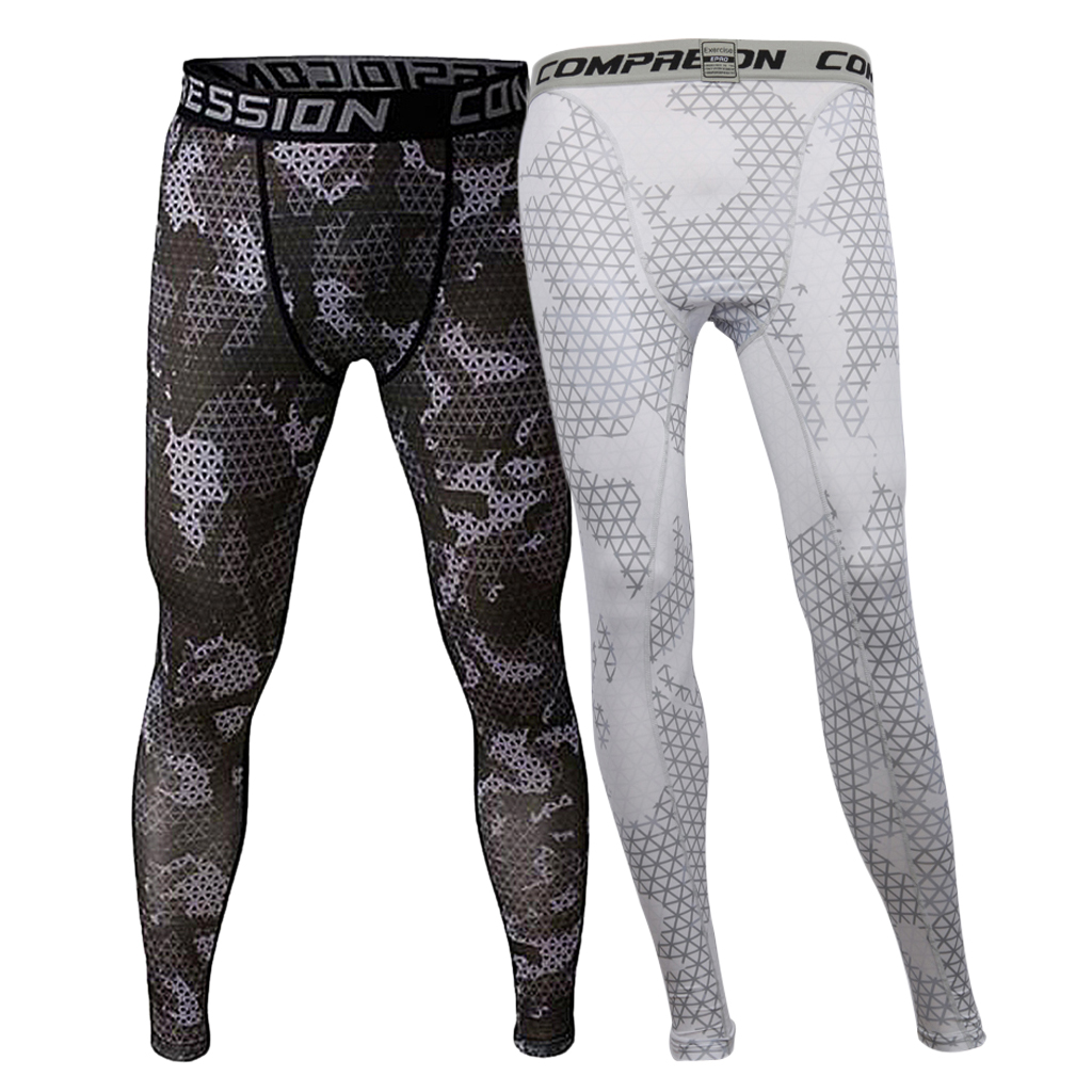 2 Piece Men's Compression Baselayer Pants Running Legging Tights L