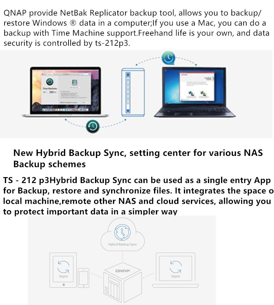 Qnap TS-212P3 , four-core dual-disk NAS, network storage server, home  private cloud server
