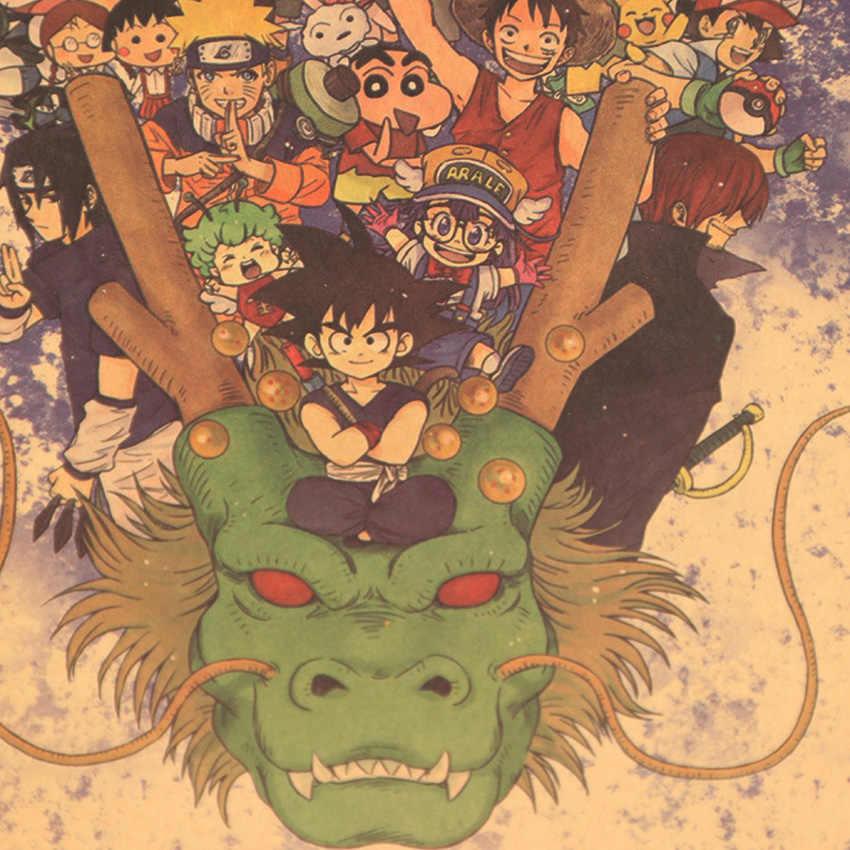 Gravata ler grande coleção de anime japonês do vintage kraft decorativo poster diy adesivo de parede delicado casa barra decoração presente