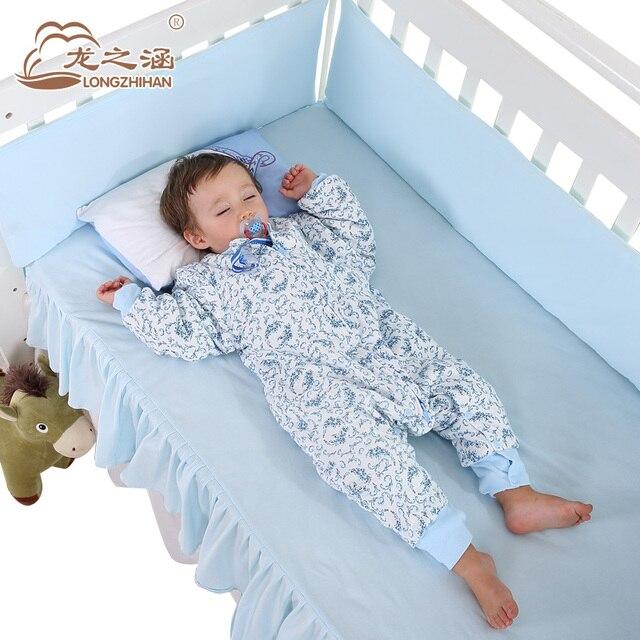 Высококлиренсный спальный мешок хлопок Младенческой Спальный Мешок для детей Мягкие детские sleepsack с рукавами для 0-6 лет