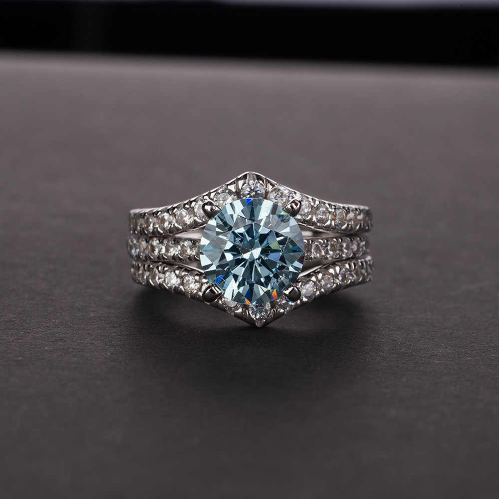 OneRain อินเทรนด์ 100% 925 เงินสเตอร์ลิง Citrine สีชมพู Sapphire สีขาว Topaz Aquamarine แหวนค็อกเทลเครื่องประดับขายส่ง