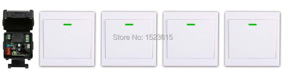 New AC220V 1CH Wireless Remote Control Switch System Receiver +4* Wall Panel Remote Transmitter Sticky Remote Smart Home Switch соковыжималки электрические scarlett соковыжималка цитрусовая scarlett sc je50c03 90вт