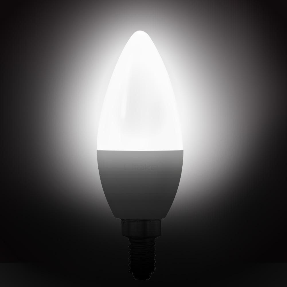 Litake 108 Verpakt E12 Base LED Lamp Kandelaar Gloeilampen Non dimbare Daglicht Wit Warm Wit Licht 6 W - 2