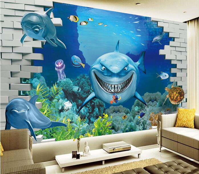 3d wallpaper custom mural non woven 3d room wallpaper undersea ...