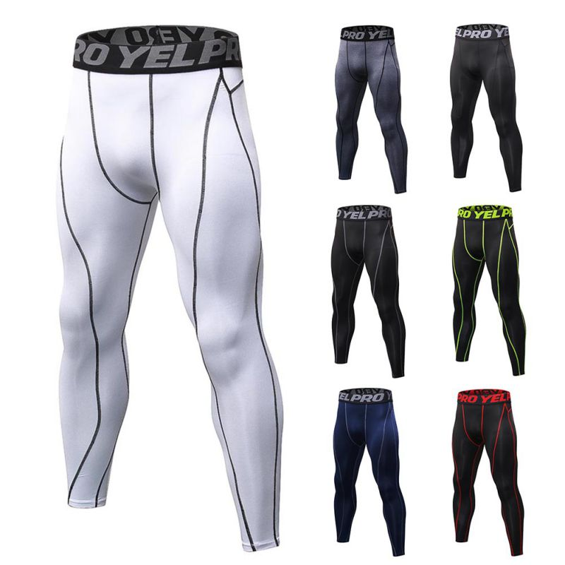 Mens Compression Pants Baselayer Cool Dry Sports Tights Leggings Hot