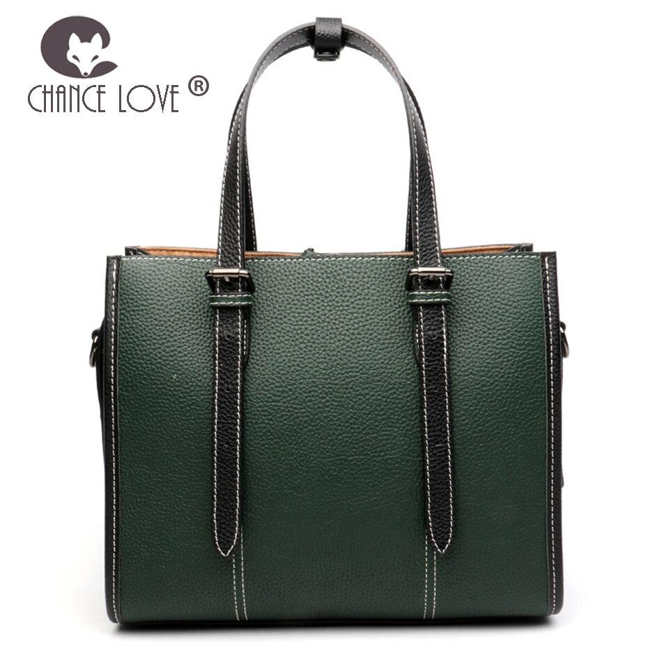 Chance Love 2018 new Genuine leather female bag top leather fashion lacquer pattern ladies handbags shoulder bag double lacing недорго, оригинальная цена
