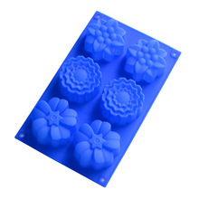 silica gel cake oven moulds wholesale soap mold sunflower shape moon making diy hand silicone molds