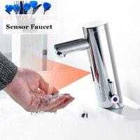 Ulgksd浴室センサー蛇口ホットコールドバッテリー電源自動ハンドタッチセンサー蛇口ミキサータップパラ流域浴