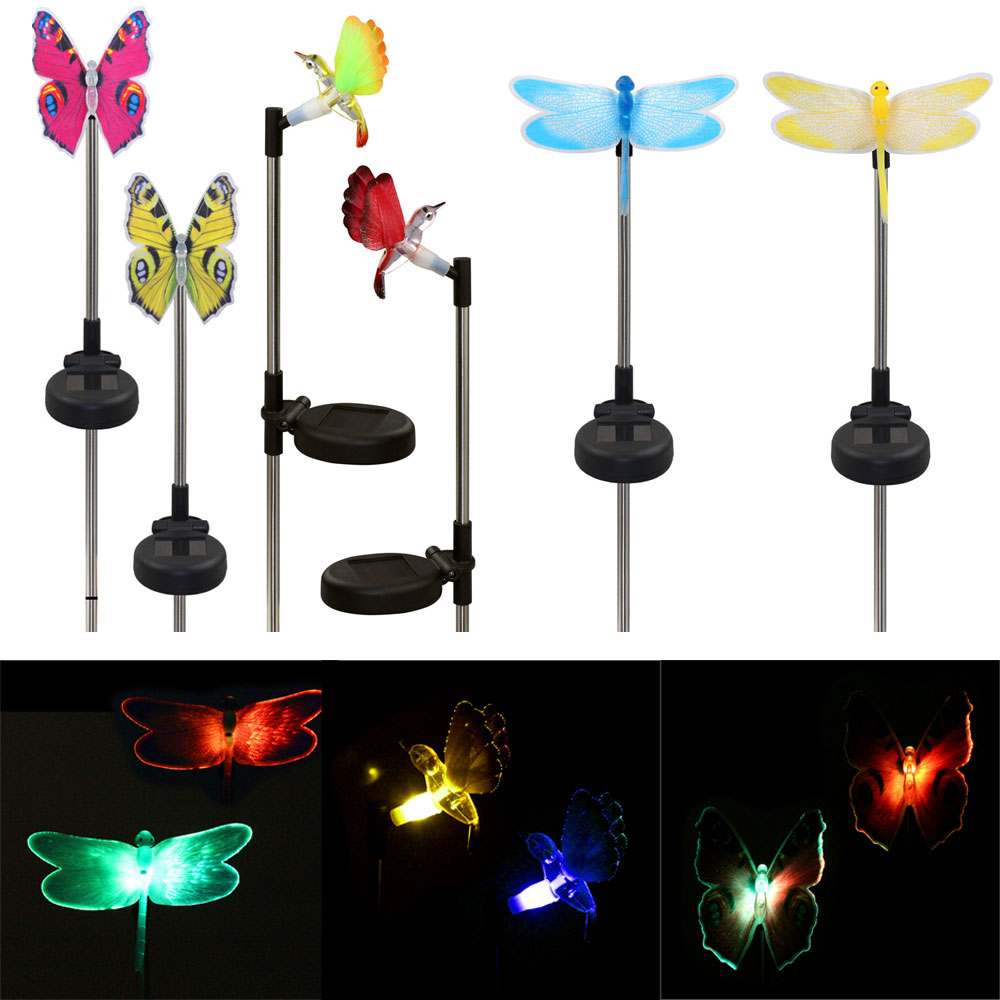 2Pcs Color Changing Solar Powered Garden Pathway Lawn Landscape Decoration  LED Bird Lamp Spike Light Sense In Lawn Lamps From Lights U0026 Lighting On ...