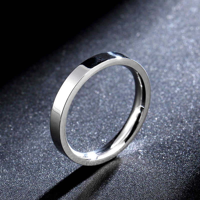 3mm steel color super thin slim titanium steel ring men and women ring scratch resistance tungsten steel ring factory direct