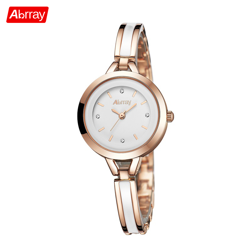 Abrray Small Round Dial Women Watches Stainless Steel Mix White Ceramic Band Quartz Ladies Watch Casual Female Wrist Watches цена