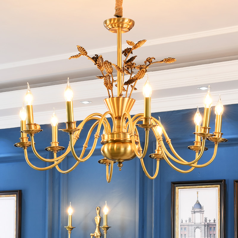 American Copper Chandelier Designer Model Room Living Room bedroom Copper Lights Chandeliers For Dining Room Lamp