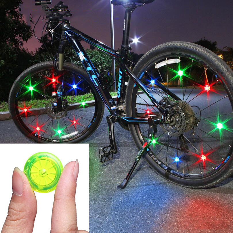 Bike Wheel Spoke Light MTB Road Bicycle Night Riding Cycling Tail Rear Back Light Safety Warning Light Wire LED Lamp TL2411