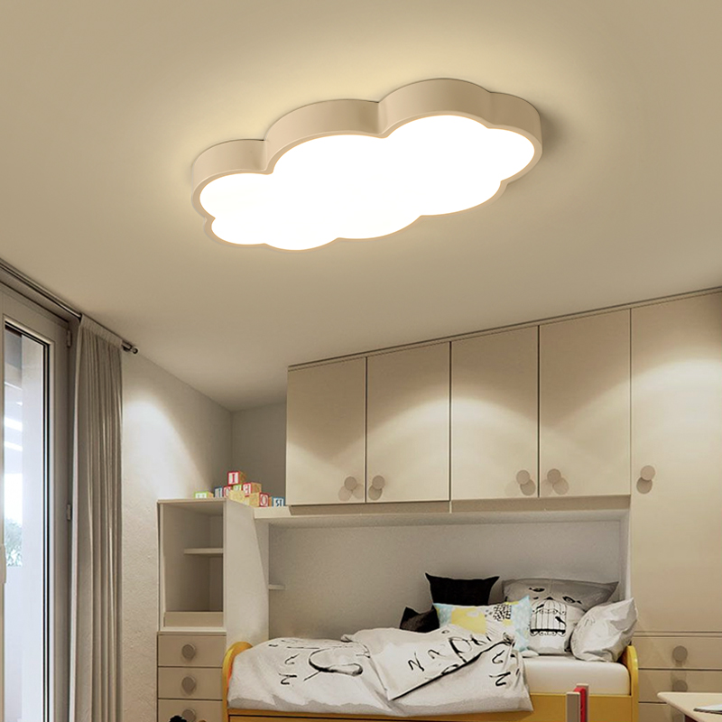 NEO Gleam Clouds Modern Led Ceiling Lights For Bedroom Study Room Children Room Kids Rom Home Deco White/Pink/Blue Ceiling Lamp noosion modern led ceiling lamp for bedroom room black and white color with crystal plafon techo iluminacion lustre de plafond