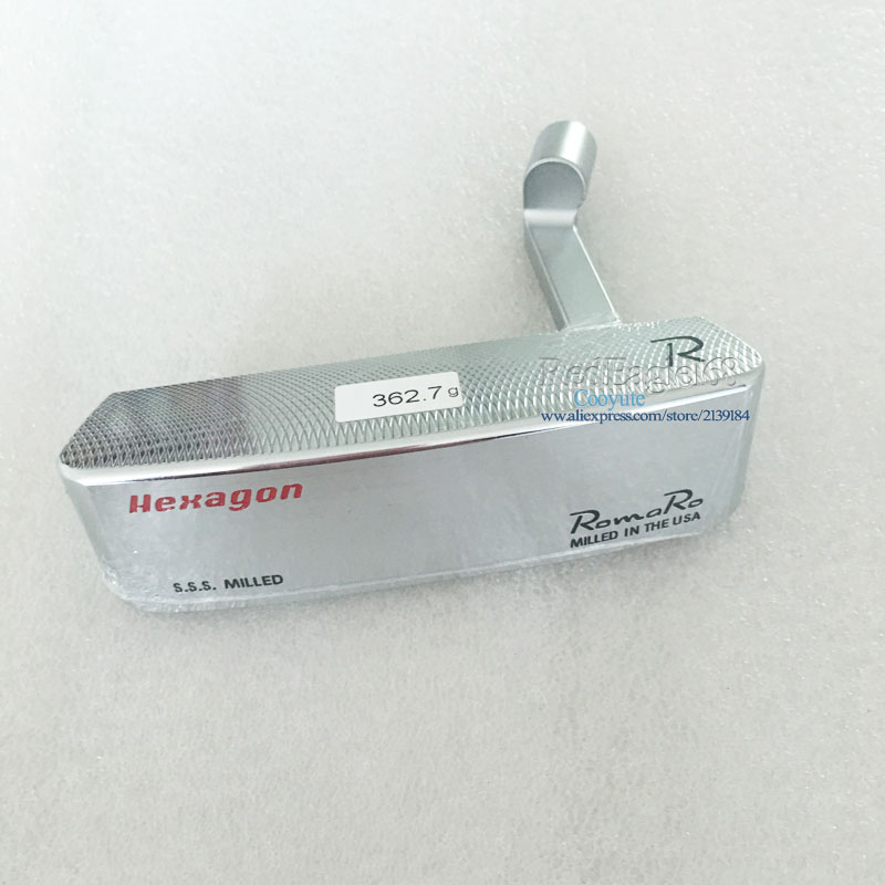 NEW Cooyute Golf heads Romaro S.S.S Hexagon CB TOUR Golf Putter Haeds T silver Golf Club heads No Clubs shaft Free shipping ...