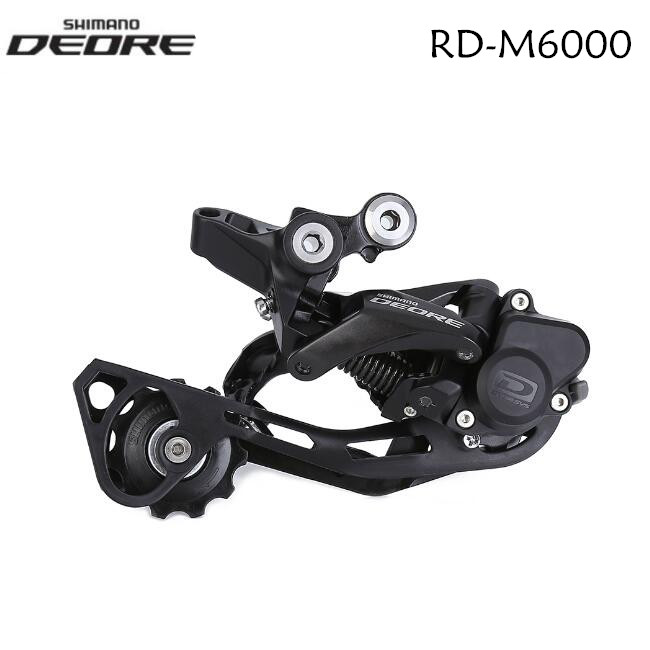 New Shimano Deore RD-M6000 GS 10 Speed MTB Rear Derailleur Medium Cage Black
