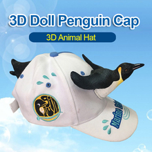 Europe and American 3D Penguin  Travel Parent-child Hat Chri