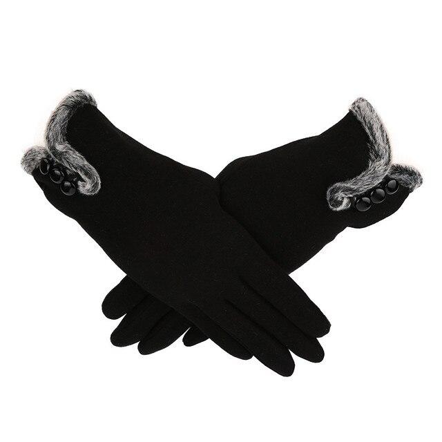 Women Gloves Cashmere...