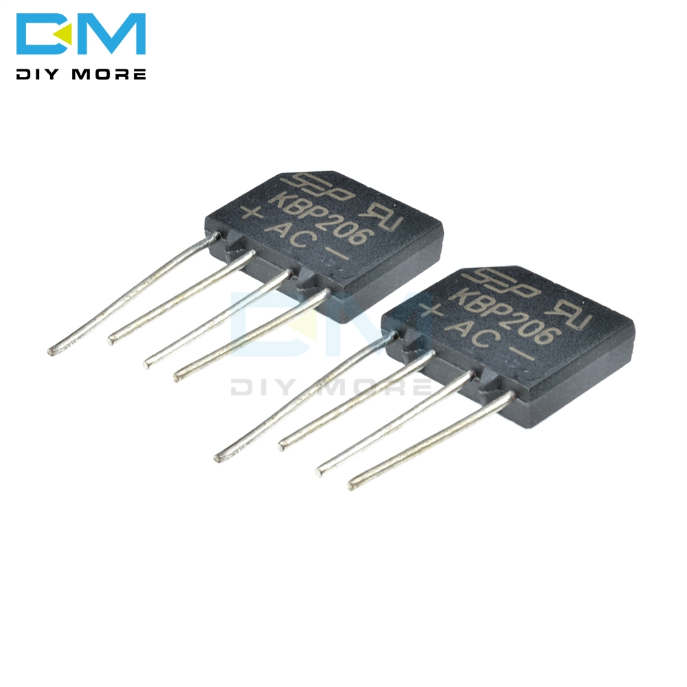 10pcs 2W10 2A 1000V Diode Bridge Rectifier Round 4 pin Single Phase New