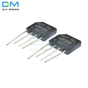 5pcs lot Diy Electronic Diode Bridge Rectifier 600V 2A KBP206G KBP206 4PIN SIP-4 Single Phase