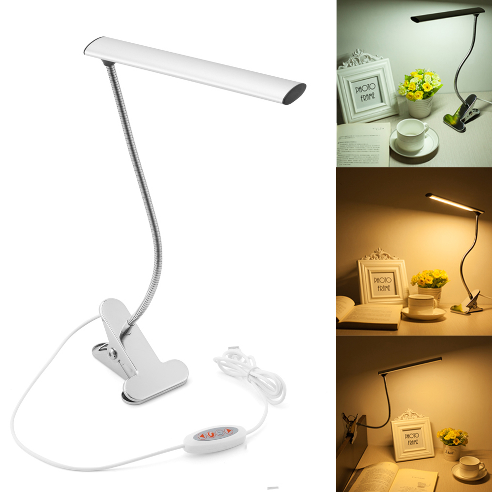 WOERFU Dimmable LED Bedsid Reading Lamp 10 Level Dimmer 3