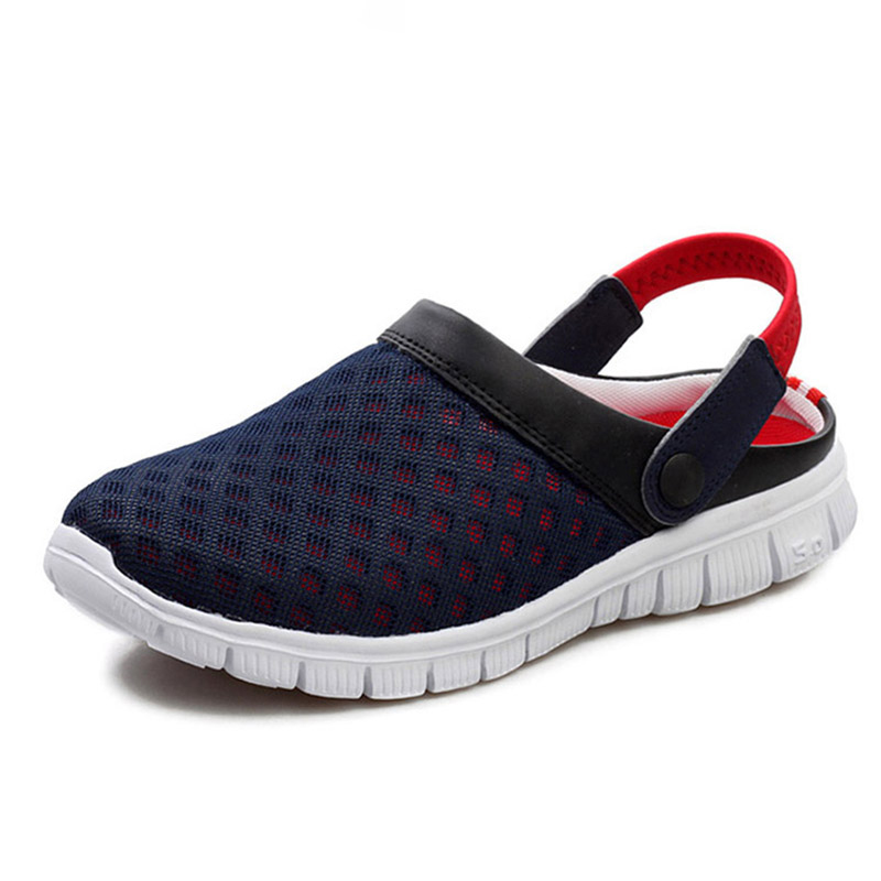 Summer Shoes Woman Breathable Mesh Sandals Men Slip-on Beach Slippers Antiskid Flip Flops Outdoor Sandals Flat Slides Zapatillas