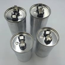 Моторный накопитель переменного тока конденсатор с алюминиевой крышкой, компрессор для автомобильного кондиционера, работающий от запускаемый конденсатор CBB65 450VAC 20 мкФ 25 мкФ 30 мкФ 35 мкФ 40 мкФ 45 мкФ 50 мкФ 60 мкФ 70 мкФ