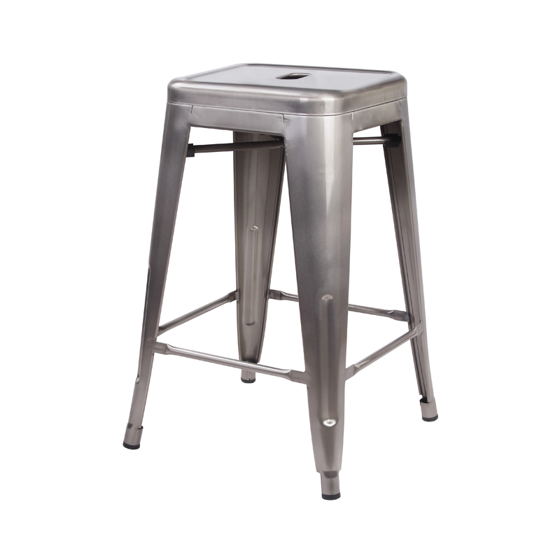 Magnificent Us 99 99 Gunmetal 24 Metal Stool Set Of 2 Counter Height Square Backless Ready To Use Extra Durable And Stackable In Bar Chairs From Furniture On Forskolin Free Trial Chair Design Images Forskolin Free Trialorg