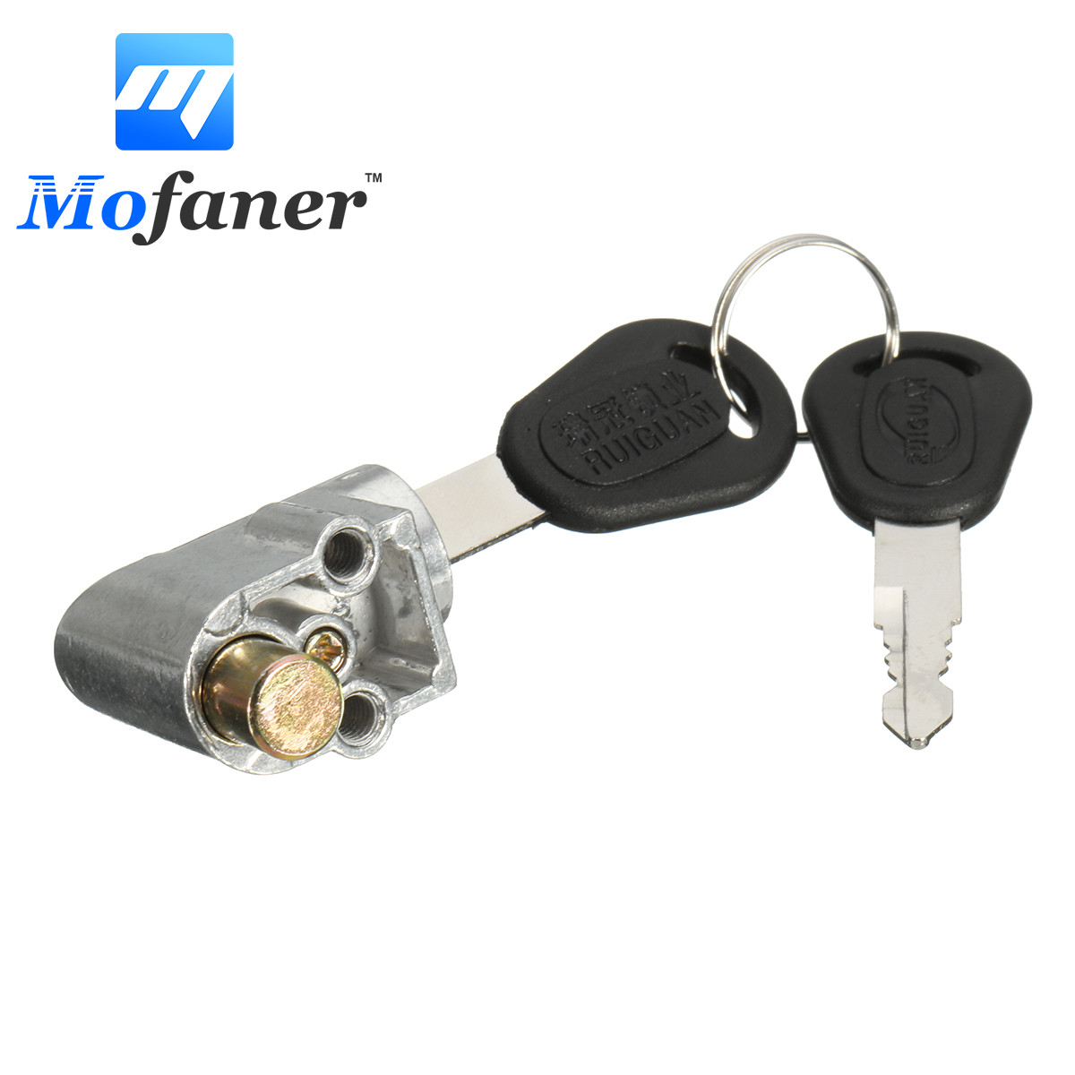 Mofaner Ignition Switch Battery Safety Pack Box Lock + 2 Key For Motorcycle Electric Bike Scooter E-bike