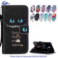 Cartoon Leather Case for Samsung Galaxy A3 2016 A5 2016 Cover Stand Wallet Flip Case for Samsung Galaxy A3100 A5100 Coque Capa