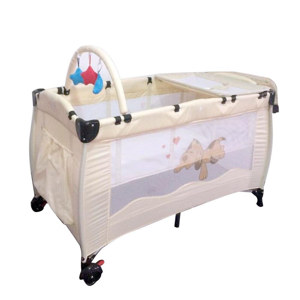 Baby Crib Nursery Travel Folding Bed