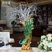Интерьер павлин ваза украшения Роскошные гостиная ТВ Кабинета ресторан вход вина Технология дисплея