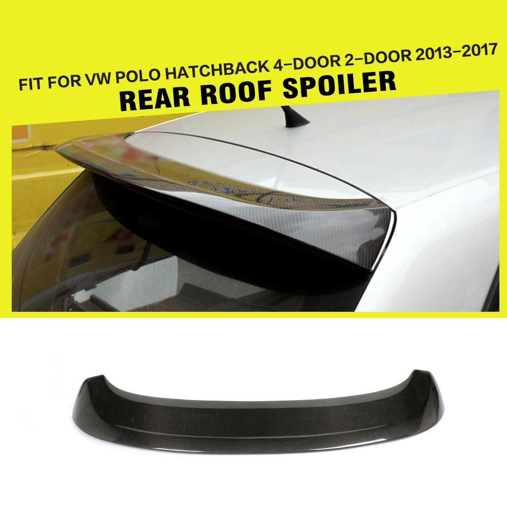 Rear Roof spoiler Car Sticker Rear Windshield wings For Volkswagon VW Polo 2010-2015 Carbon Fiber / FRP Unpainted Grey