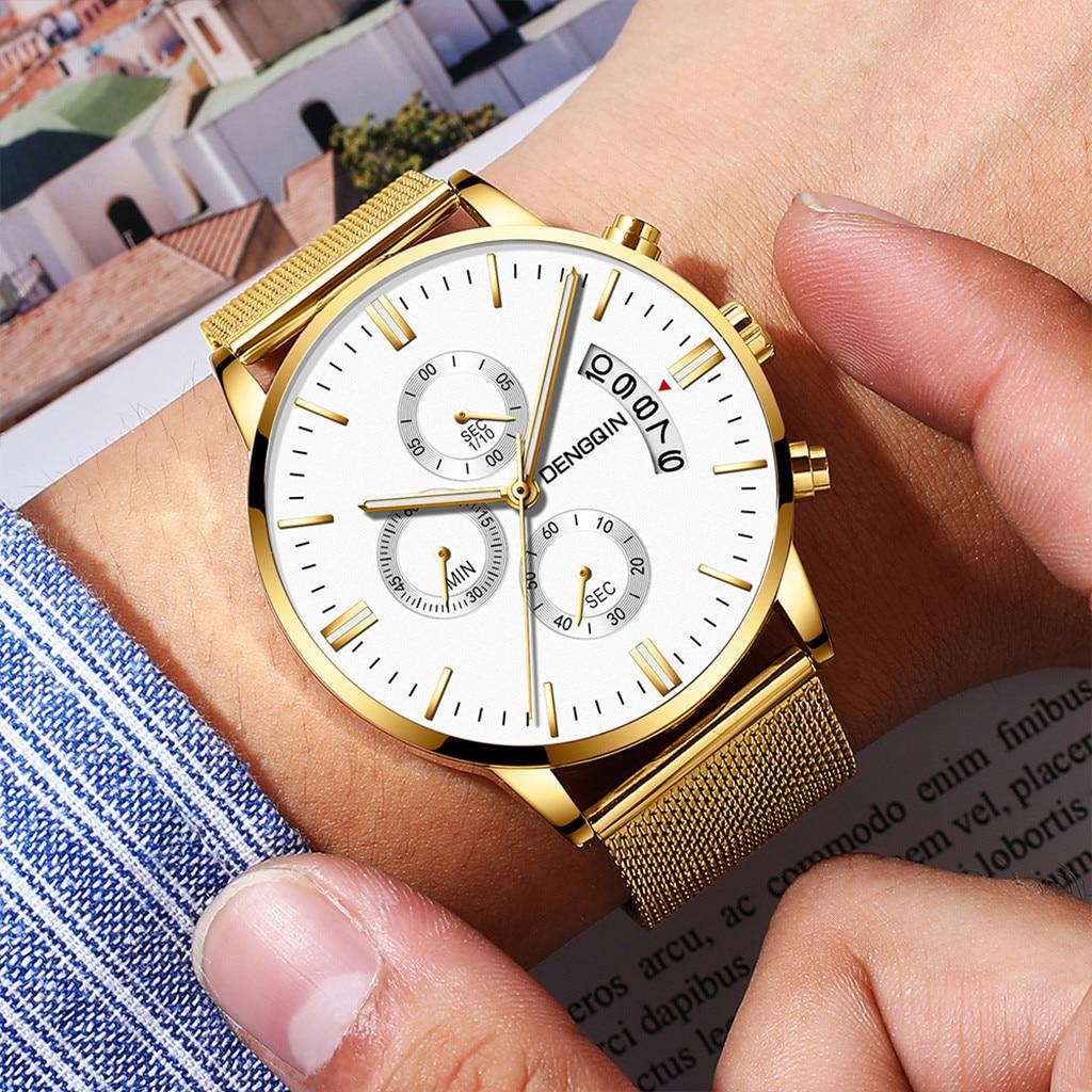 Man Watches Luxury Quartz Stainless Steel Dial Casual Bracelet Watch Man Watches Mens 2019 Men Wristwatch Clock