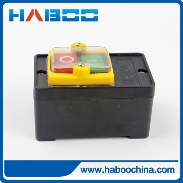 2 stks/partij KAO-5-H OP/OFF waterdichte drukknop voor machine GEEN/OFF start stop schakelaar 10A 220 V/380 V