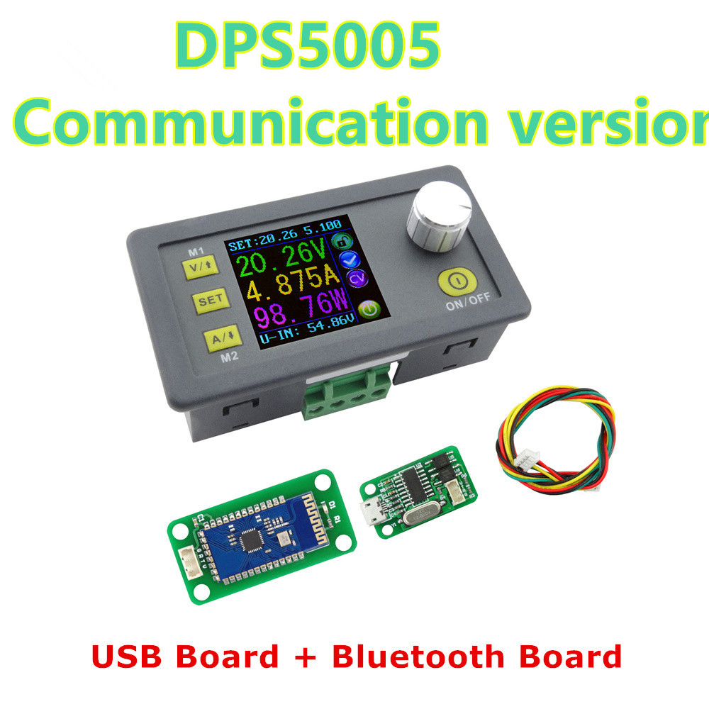 DPS5005 LCD converter Adjustable Voltage current meter Regulator Programmable Power Supply Module Buck Voltmeter Ammeter 40%off constant digital voltage current meter step down dp50v2a voltage regulator supply module buck color lcd display converter