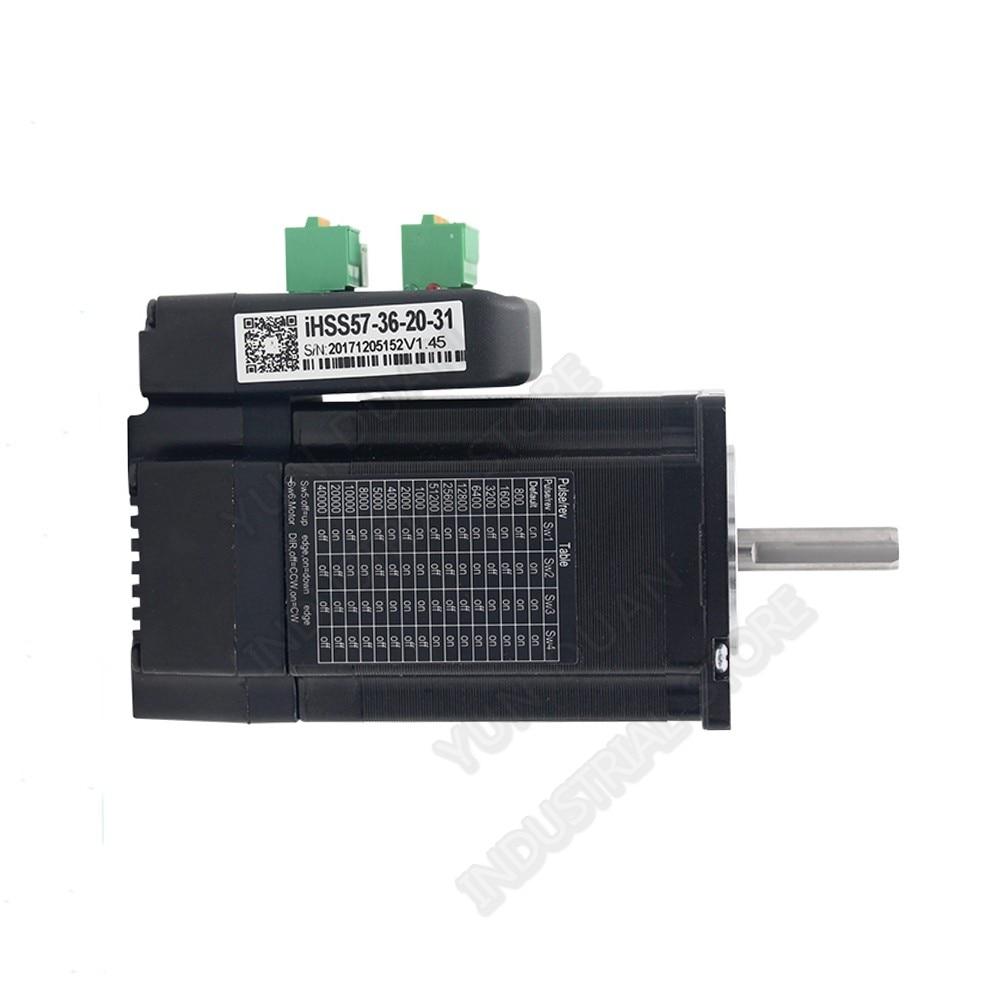 2Nm 286Oz.in JMC Integrated NEMA23 57mm 57 36V DC 1500rpm DSP Hybrid closed loop Motor Driver Encoder All- in- one easy Servo2Nm 286Oz.in JMC Integrated NEMA23 57mm 57 36V DC 1500rpm DSP Hybrid closed loop Motor Driver Encoder All- in- one easy Servo