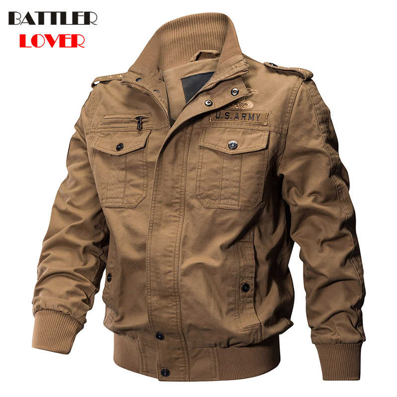 b5323731676 Military Pilot Jackets Men Winter Autumn Bomber Cotton Coat Mens Tactical Army  Jacket Male Hombre Casual
